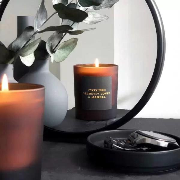 MANDLE | personalised candle