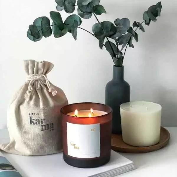 sol | energising eucalyptus + lime mega refillable candle [750g]