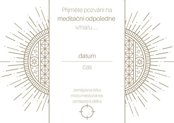 Pozvánka na meditační odpoledne II