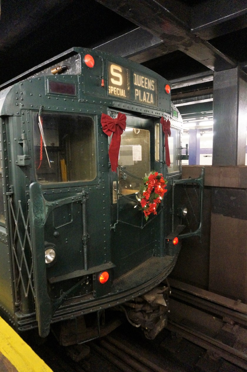 Holiday Nostalgia Train pulls into the station