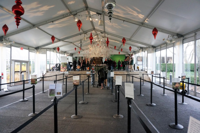 New York Botanical Garden Train Show Entrance
