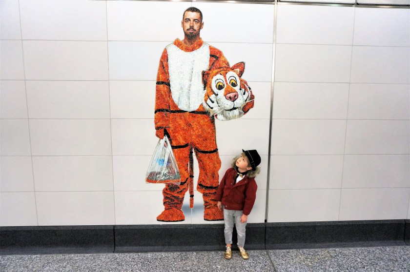 Perfect Strangers Tiger Mural in Second Ave Subway