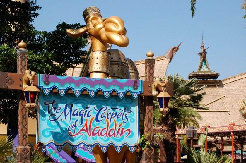 The magic camel at the Magic Carpets of Aladdin Ride