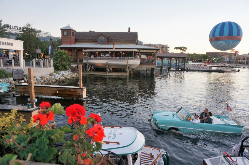 The beautiful scene at the Boathouse at Disney Springs