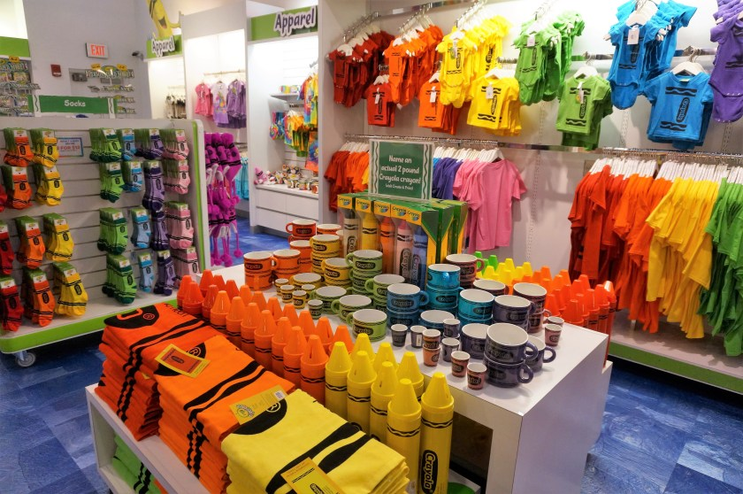 Crayola Experience in Easton - Colorful Apparel