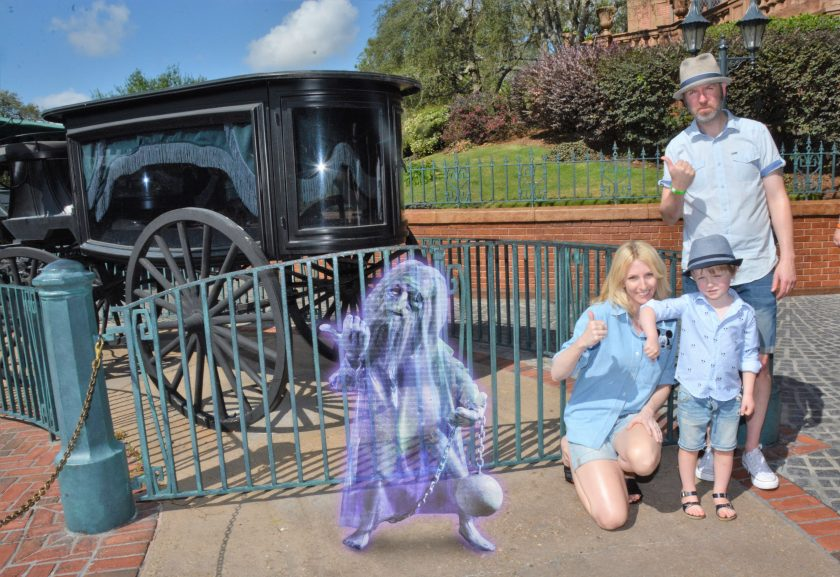 Magical photo special effects at the Magic Kingdom