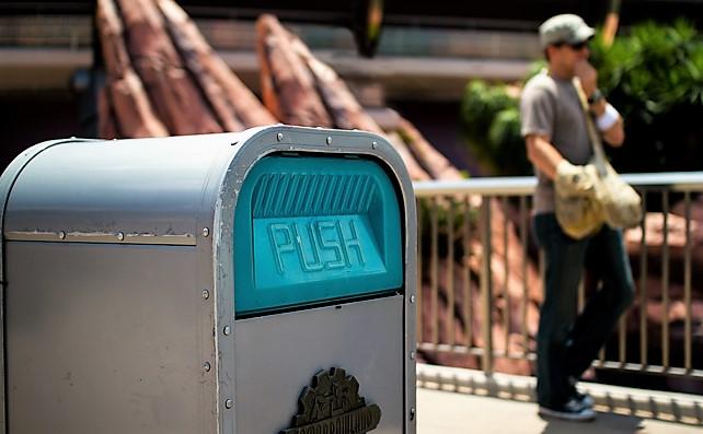 Trash cans at Walt Disney World