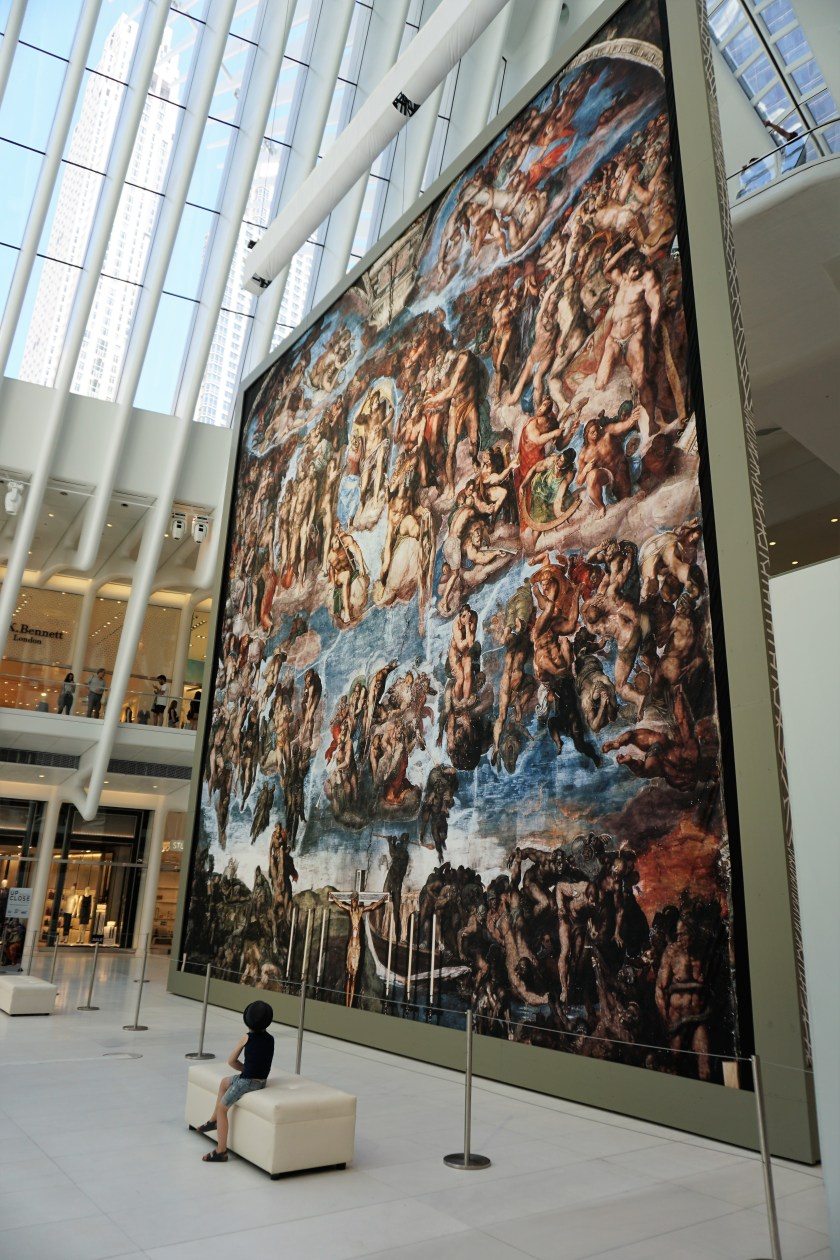 The centerpiece of Up Close: Michelangelo's Sistine Chapel is the recreation of The Last Judgement