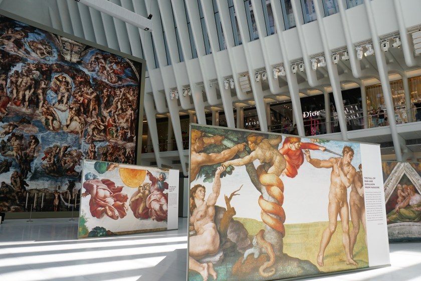 The new exhibit, Up Close: Michelangelo's Sistine Chapel, makes it easy to see the artists famous masterpieces up close