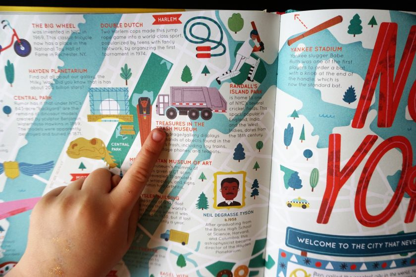 Found new activities in the 50 Cities of the USA Travel Book