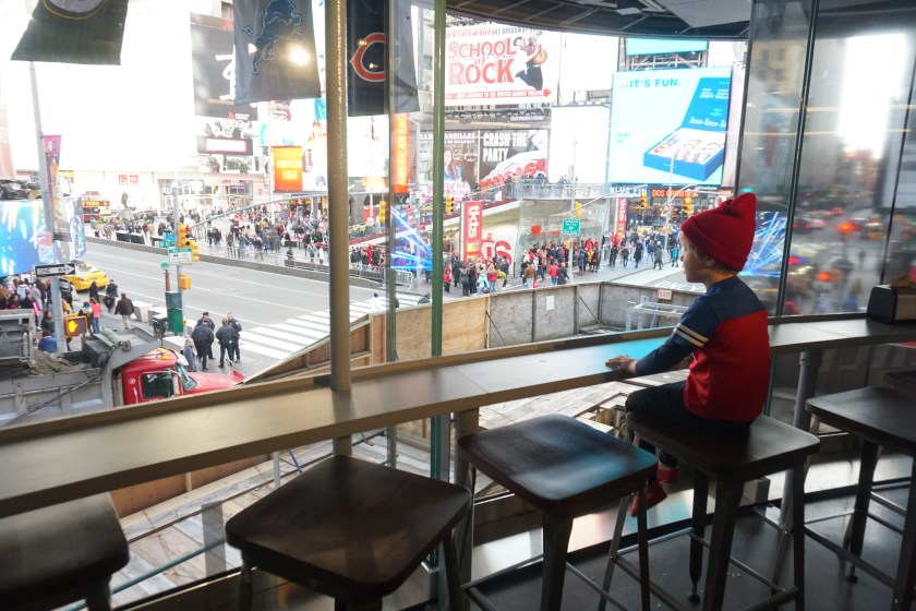Amazing view from the NFL Experience Times Square