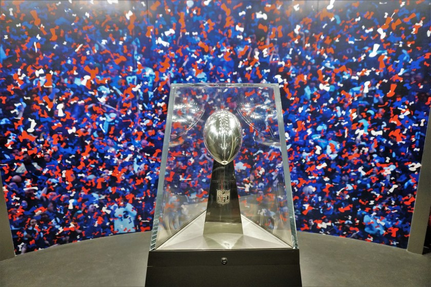 Superbowl Trophy in Times Square
