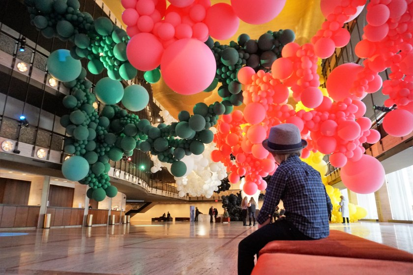 Sit within Balloons at the Geronimo Installation at NYCB