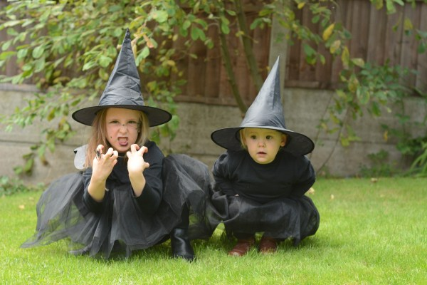 Halloween outfit witch matching sisters and disco