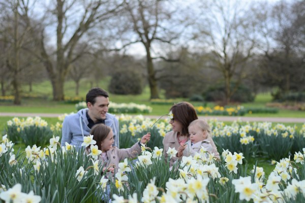 Me and mine Family Photo March in daffodils