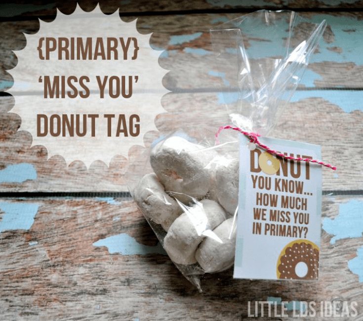 Primary We Miss You Donut Treat Tag