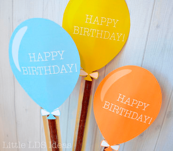 Jerky Birthday Balloon Printable