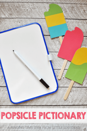 Popsicle Pictionary Singing Time Idea