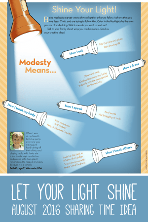 Modesty Sharing Time Idea