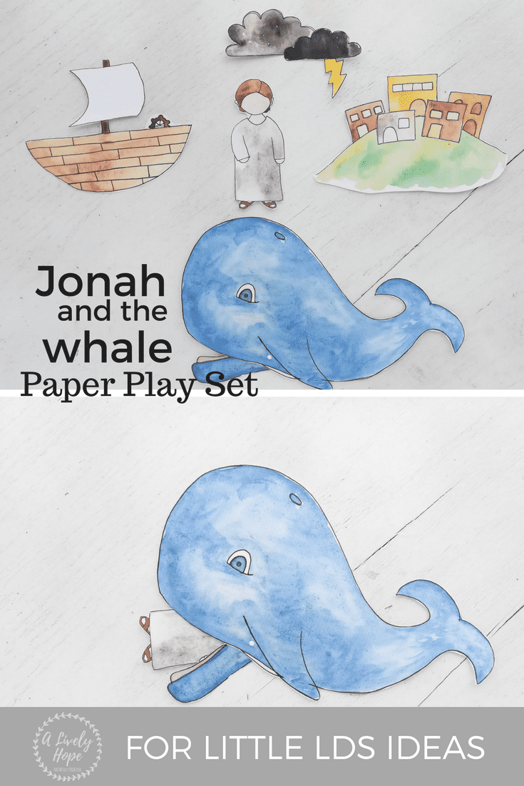 Jonah and the Whale Paper Play Set