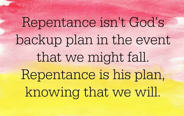 Ministering Card Repentance