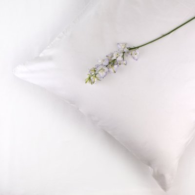 100% Organic Cotton Pillowcase Standard Style in White