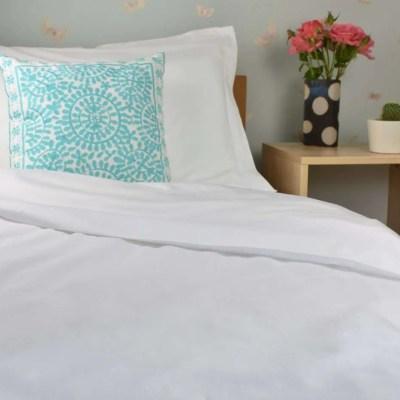 Organic Cotton Duvet Cover in White