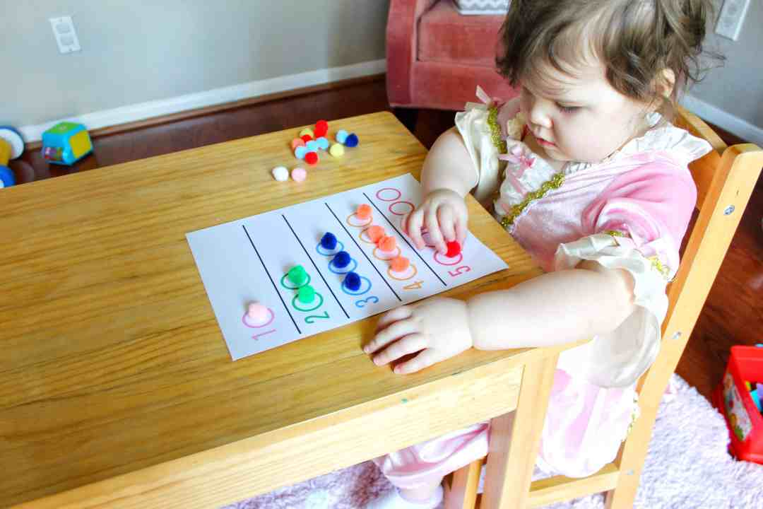 Color Matching Counting Activity Printable Included Little Learning Club