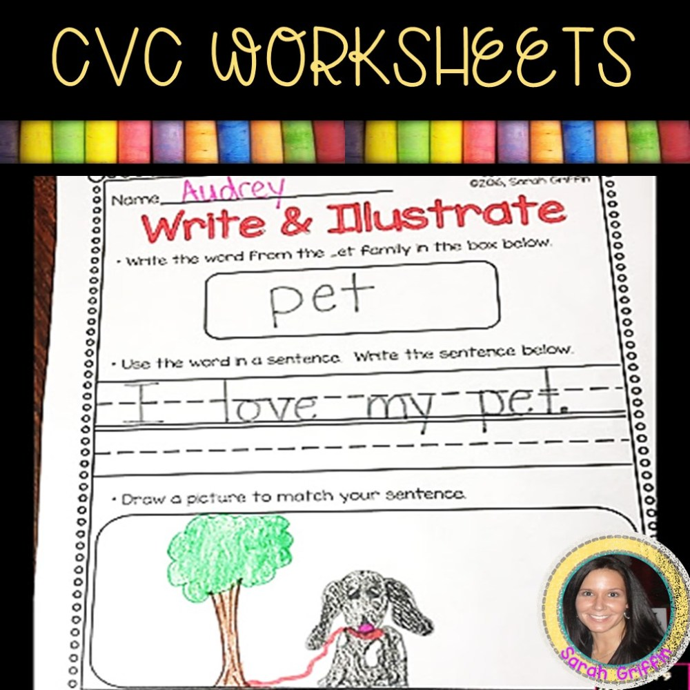 medium resolution of 13 Free CVC Worksheets and Word Family Activities   Little Learning Corner