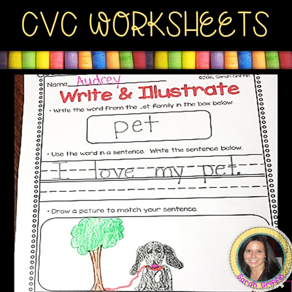 hight resolution of 13 Free CVC Worksheets and Word Family Activities   Little Learning Corner