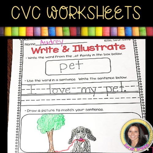 small resolution of 13 Free CVC Worksheets and Word Family Activities   Little Learning Corner