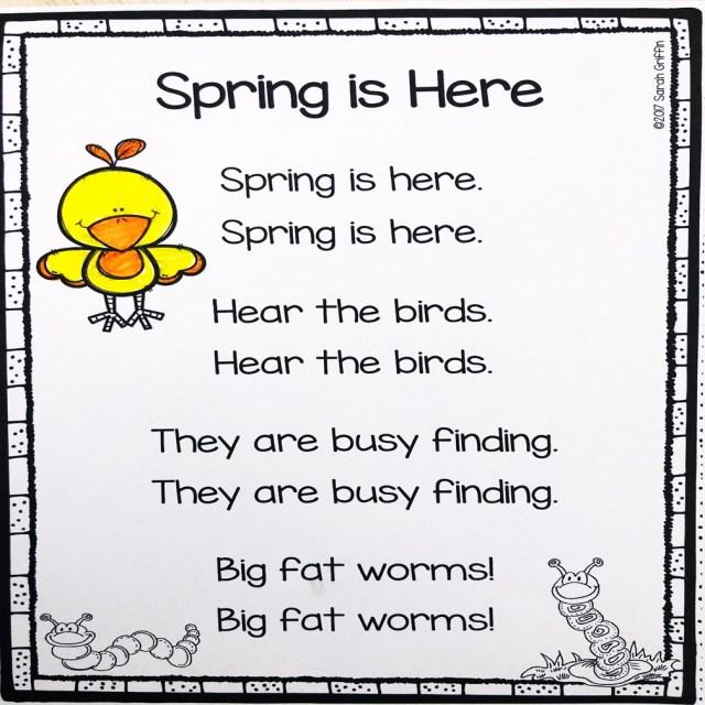 20 Spring Poems for Kids - Little Learning Corner