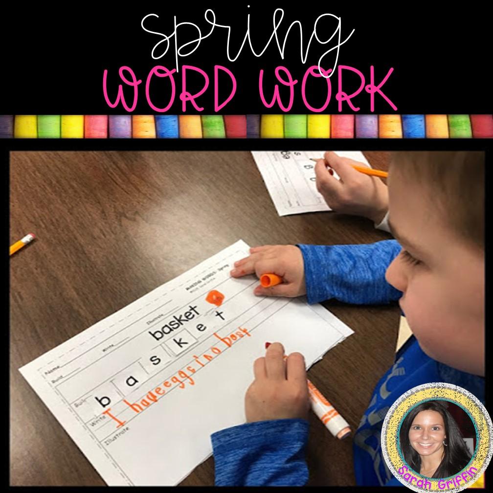 Kindergarten Spring Writing Center Little Learning Corner