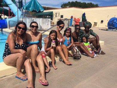 PALLI family at the pool.