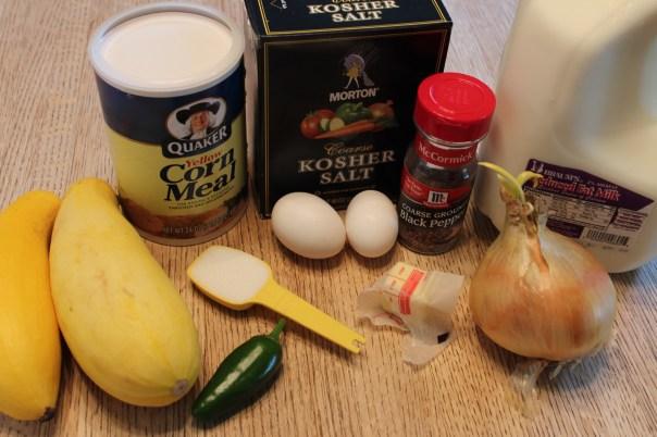 Healthy Squash Puppies Ingredients