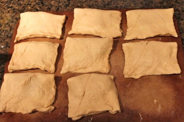 cream cheese, cinnamon, nutmeg, crescent rolls, dessert, sopapillas