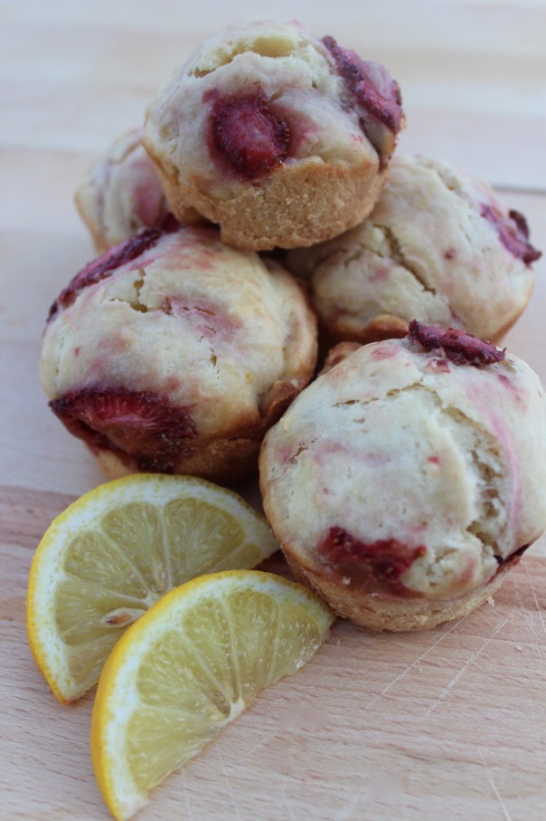 lemon, strawberries, berry, muffins, batter, breakfast, recipe, brunch, food