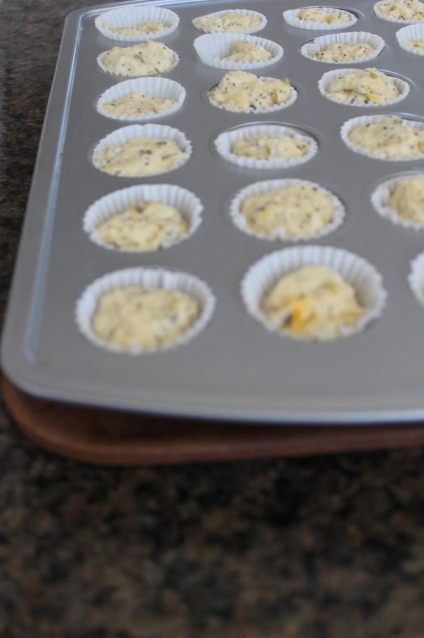 passionfruit, poppy seeds, muffins, mini, coconut, recipe, breakfast, brunch