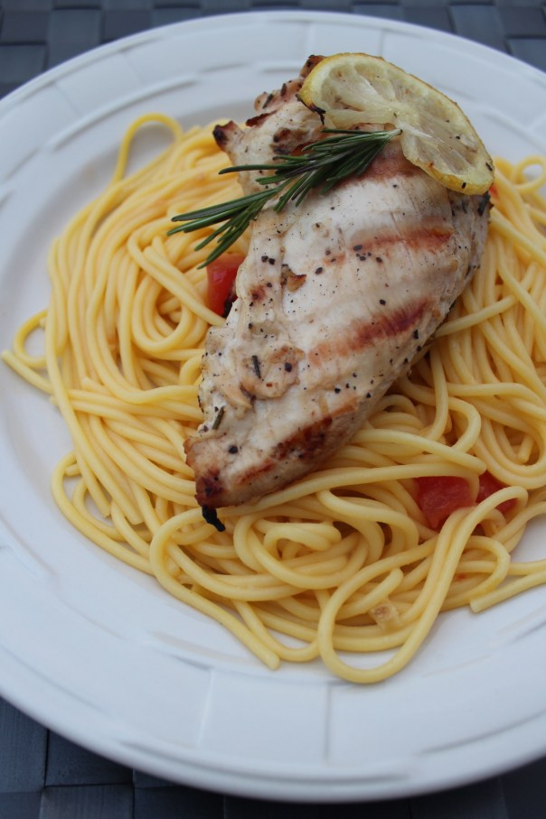 chicken, lemon, rosemary, basil, pasta, olive oil, herbs, recipe, food, dinner