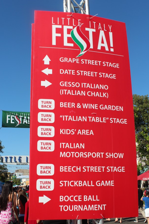 little italy, festa, san diego, beer and wine garden, kids area, festival, Italian