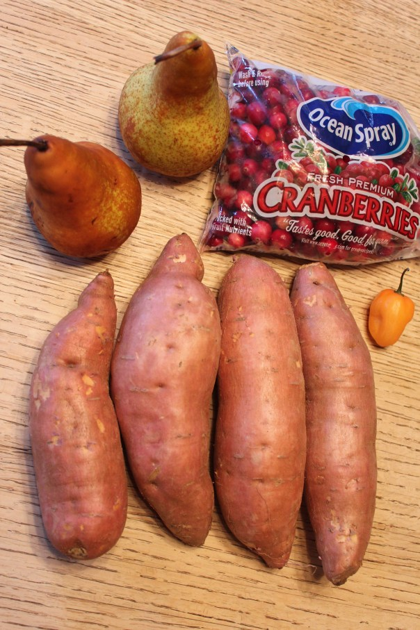 chopped challenge, ingredients, little leopard book, cranberries, yams, sweet potatoes, habaneros, habanero peppers, pears