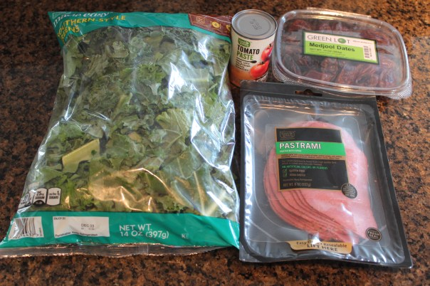turnip greens, pastrami, dates, tomato paste, southern greens, ingredients, recipes, food, chopped challenge, mystery basket