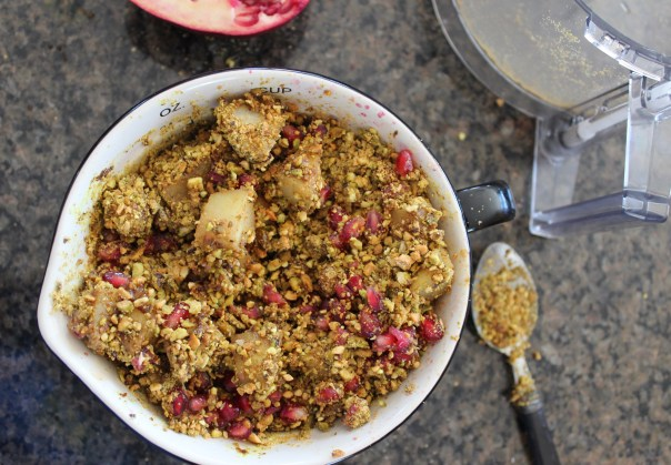 caramelized pears, baklava, caramelized pear baklava, pomegranate baklava, caramelized pear and pomegranate baklava, recipes, food, dessert, greek food, greek baklava, chopped challenge, turmeric dessert