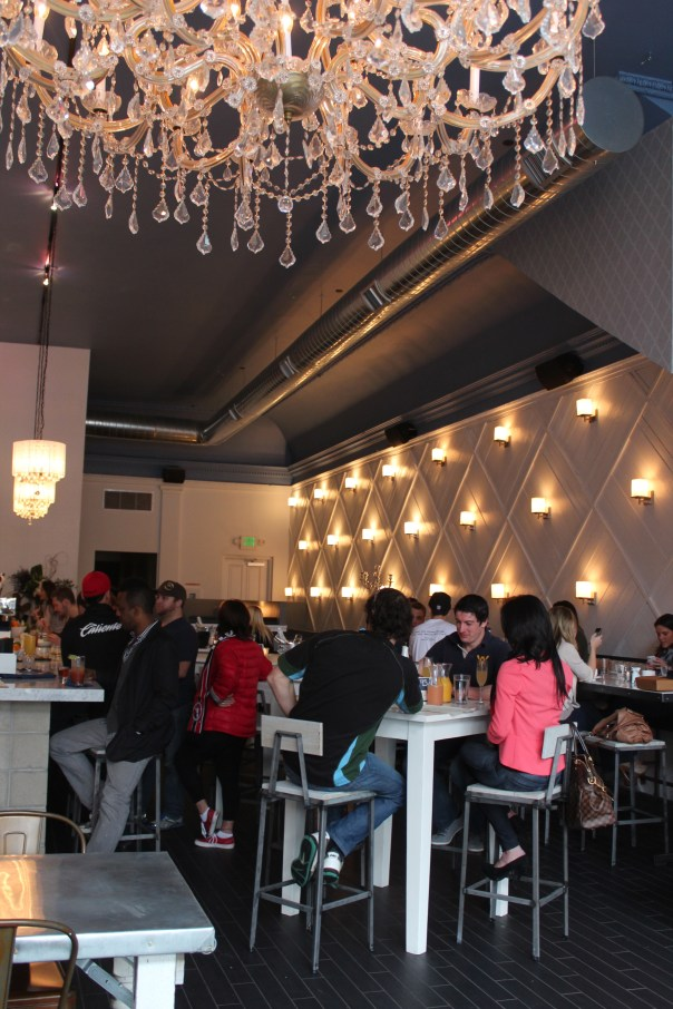 champagne, menu, bourbon maple syrup, breakfast cheese plate, coffee, brunch, bailiwick, san diego, downtown, gaslamp, interior design, chandeliers