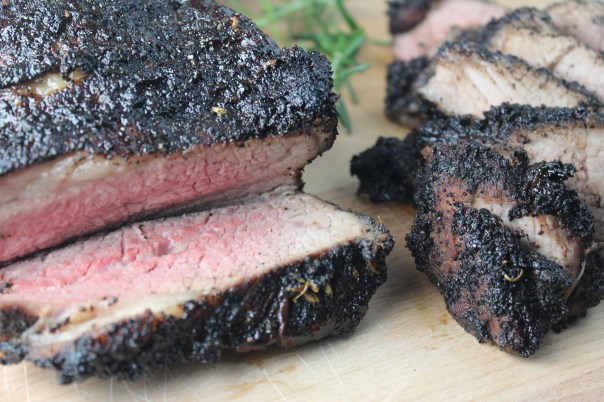 Grilled Coffee Rosemary Crusted Tri Tip