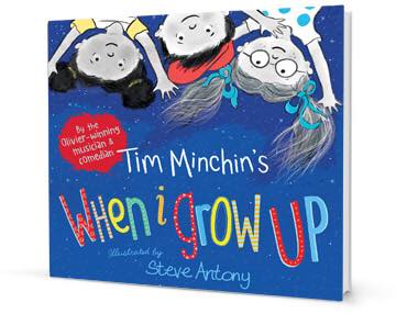 Photograph of Tim Minchin's When I Grow Up book