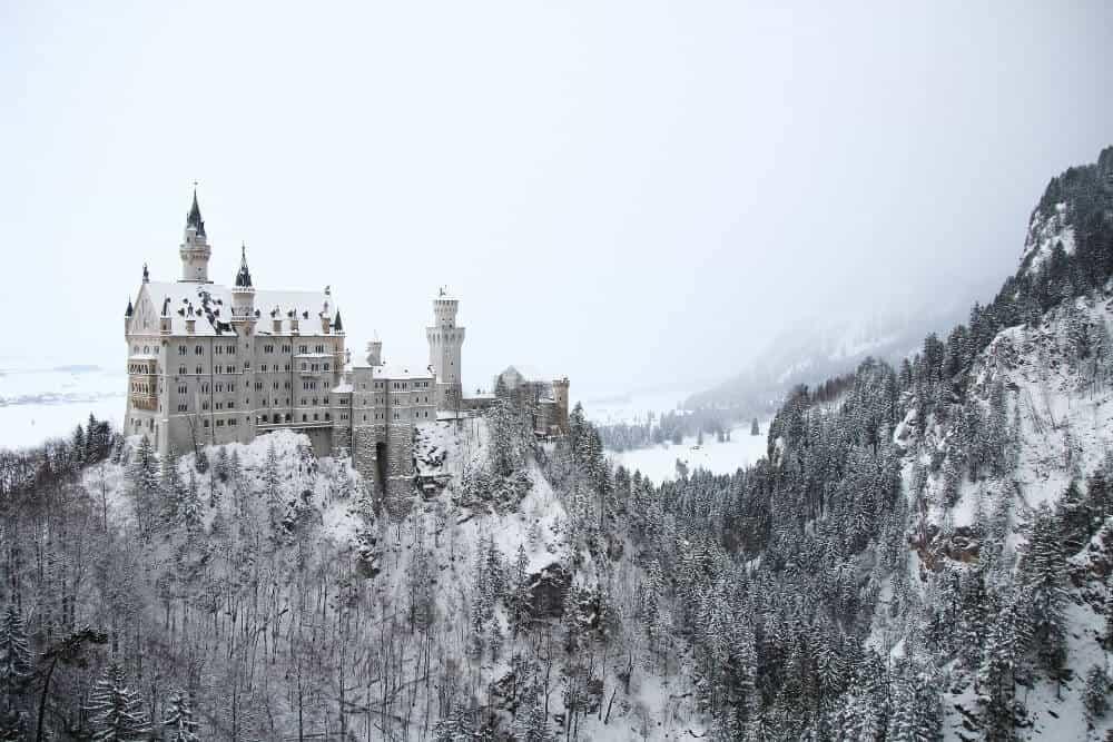 Neuschwanstein in winter for a winter mini-break