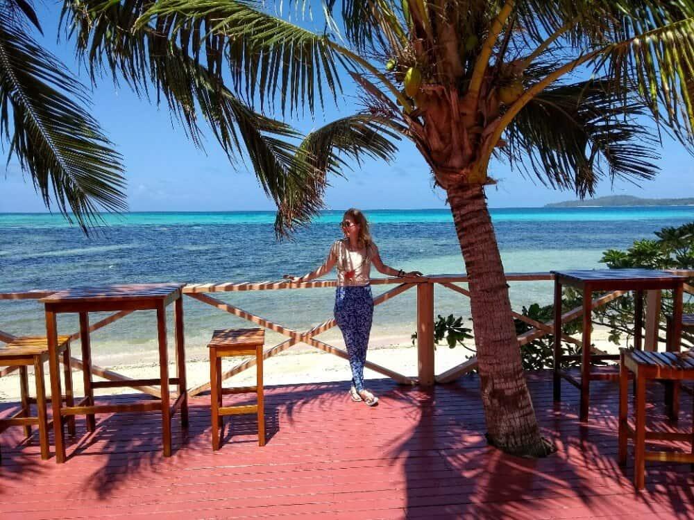 girl in Fiji at the Blue Lagoon