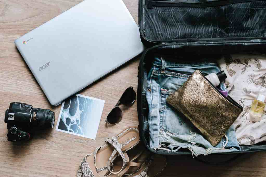 Image of a bag with items for a holiday.