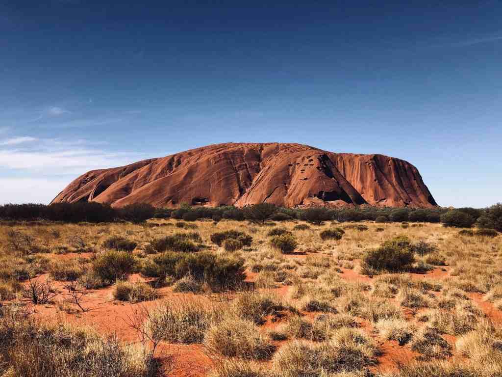 Image of Uluru in Australia for G Adventures tour.